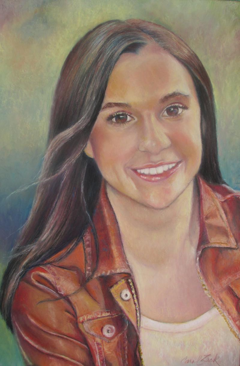 "© ""Alex"" 18 x 12"" Pastel Portrait Commissio, Sold"