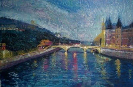 View of the River Siene - Paris - Mixed Media